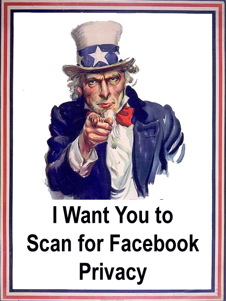 I want you to scan for Facebook privacy