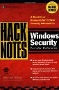 HackNotes(tm) Windows Security Portable Reference